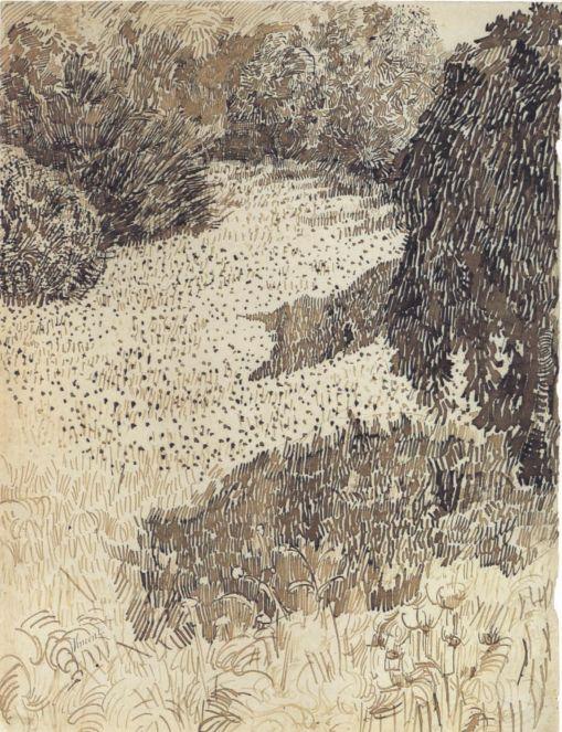 Vincent van Gogh - Narożnik ogrodu przy Place Lamartine