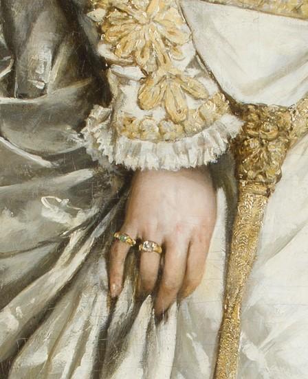 biżuteria na palcach