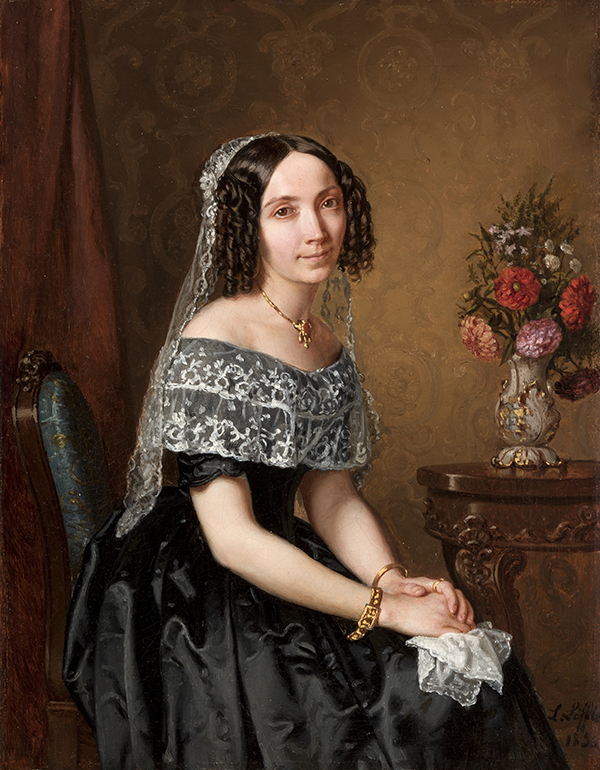 biżuteria na portrecie kobiecym