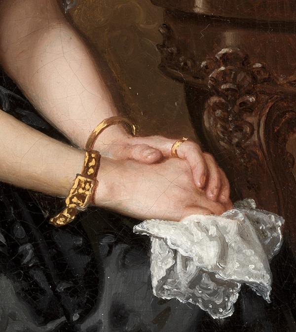 biżuteria na dłoniach