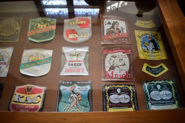 etykiety piw z browaru w Szczyrzycu