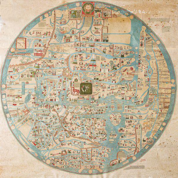 Mappa mundi, kopia XIII-wiecznej mapy