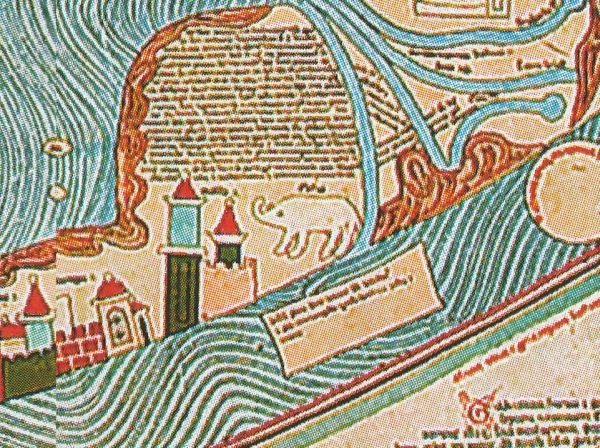 Mappa Mundi - fragment ze słoniem